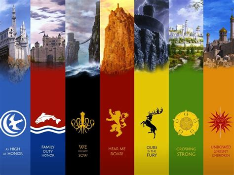 game  thrones houses high res desktop wallpaper hd