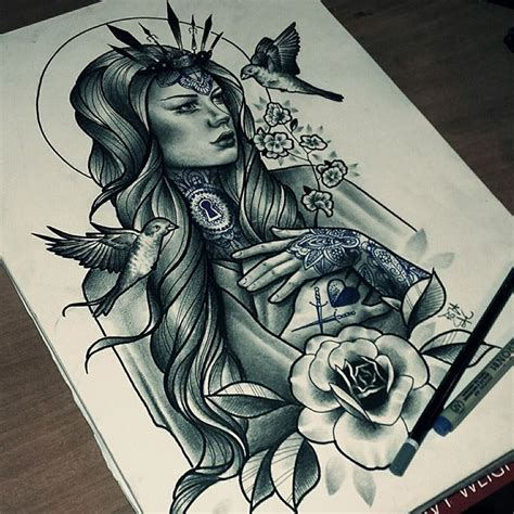 neo traditional angel tattoo 156 best dise 241 o algun dia images on pinterest tattoo