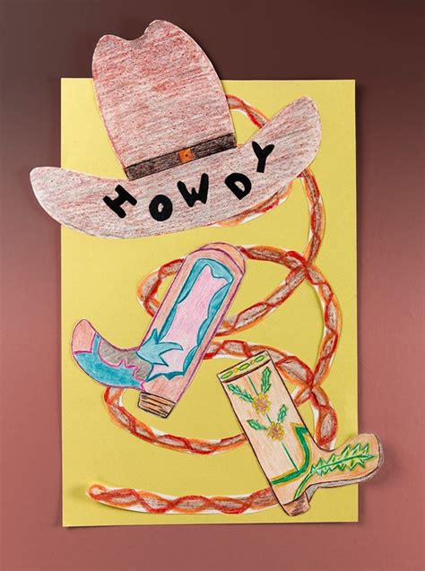 cowboy crafts for rodeo preschool crafts