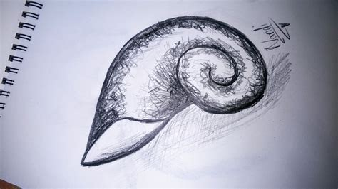 how to do spiral doodle how to draw a spiral shell