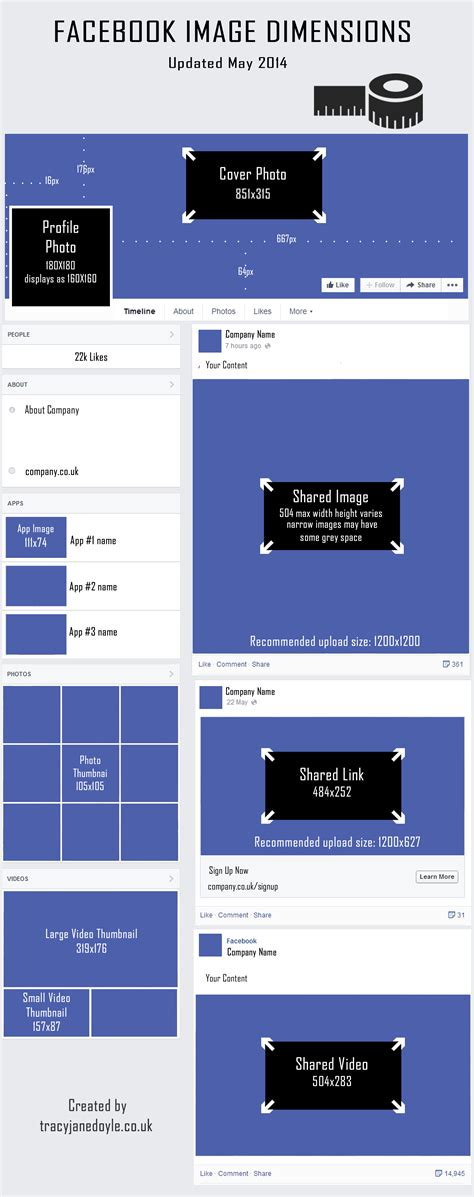 facebook cover layout size updated facebook image dimensions for new layout 2014