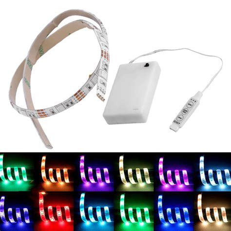 battery operated led light strips 4 5v battery operated 50cm rgb led light waterproof