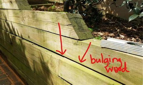wooden retaining wall advice needed doityourselfcom