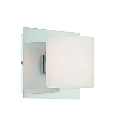 Eurofase Wall Sconce Eurofase Geos Collection 1 Light Chrome Wall Sconce 20378 028 The Home Depot