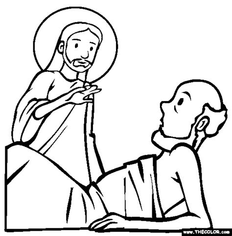 coloring page jesus and lazarus bible stories coloring pages page 1