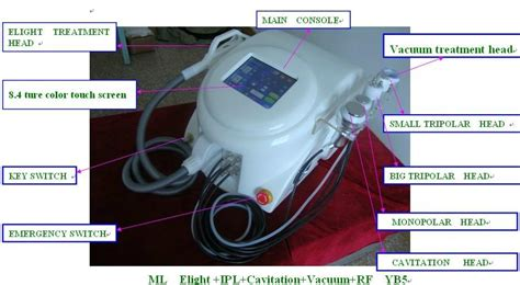 2013 most effective 6 functions elight ipl rf hair removal
