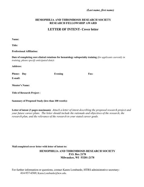 cover letter letter of intent best photos of cover letter of intent sles letter of