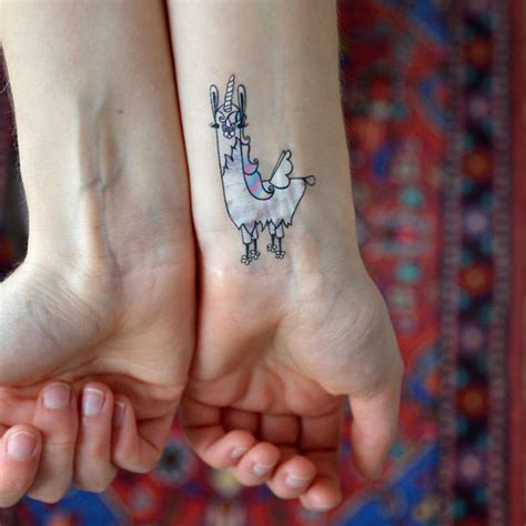 llama tattoo designs llama corn temporary on behance