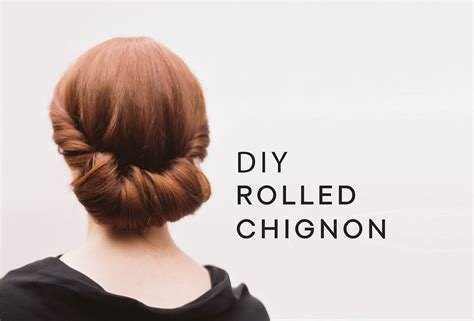 how to do rolled hairstyles diy rolled chignon hair tutorial wedding hairstyles from