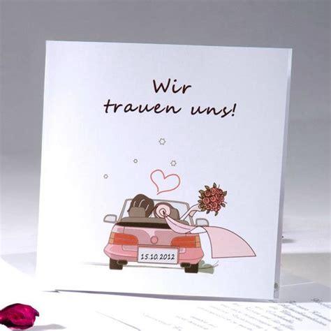 Hochzeitseinladung Auto by Blanko Einladungskarten Hochzeit Mit Comic Und Wir Trauen