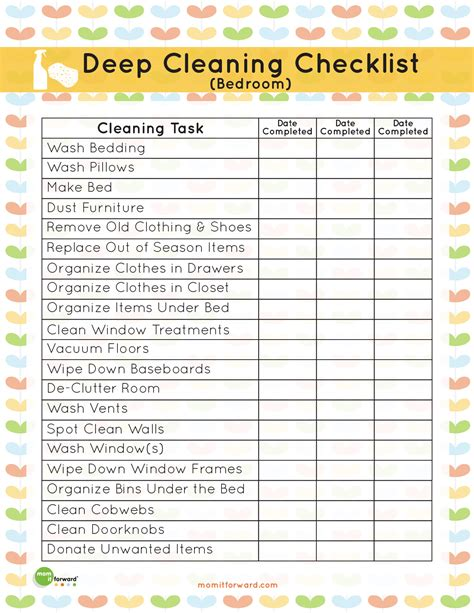 cleaning checklist room by room organization cleaning your bedroom it forward