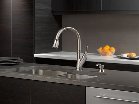 stainless kitchen faucet delta savile stainless kitchen faucet