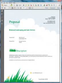 lawn care and landscaping services proposal
