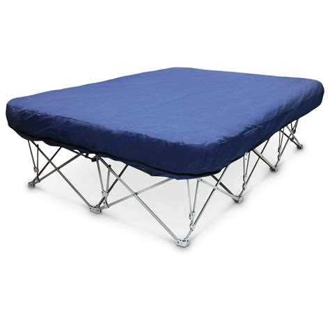 portable queen bed disc o bed cam o bunk l portable bunk bed with organizers 283228 cots at sportsman