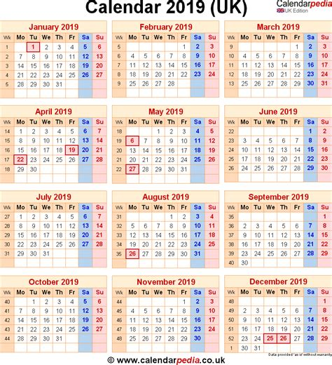 Calendar 2019 India With Holidays Calendar 2019 Uk With Bank Holidays Excel Pdf Word Templates