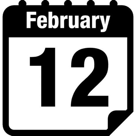 Calendario Z February 12 Calendar Page Icons Free