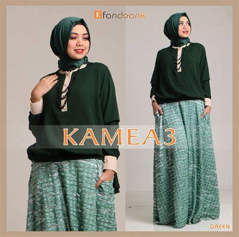 kamea 3 green baju muslim gamis modern