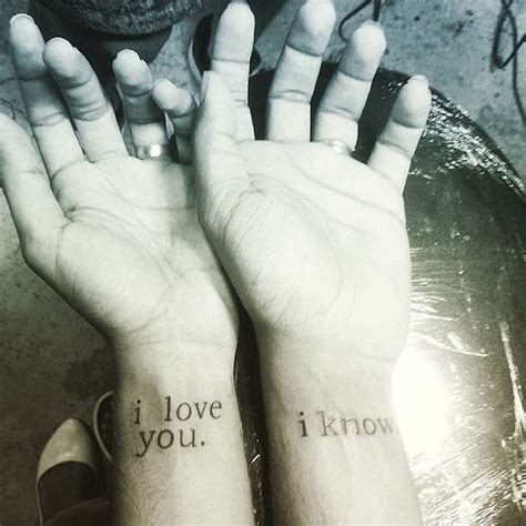 i love you tattoos for couples best 25 married tattoos ideas on