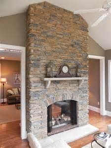 fabulous floor to ceiling stacked stone fireplace design best 25 stacked stone fireplaces ideas on pinterest