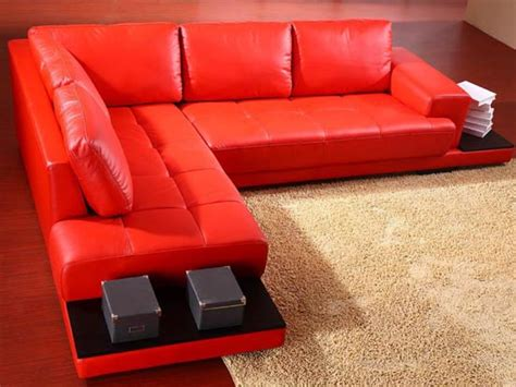 red leather modern sofa sectional sofas for living room ultimate home ideas