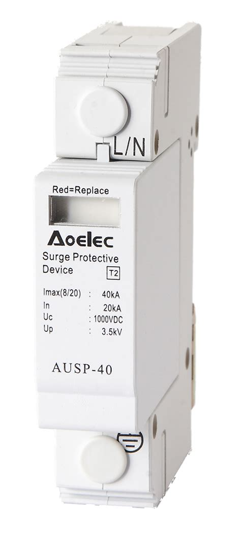 Surge Protector 2p 60ka 2 2kv ausp 60 ce certificate modualr electrical surge protective