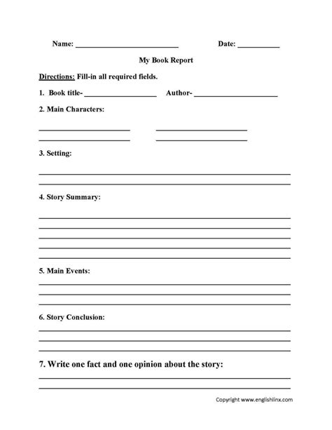 book report outline template pictures inspiration