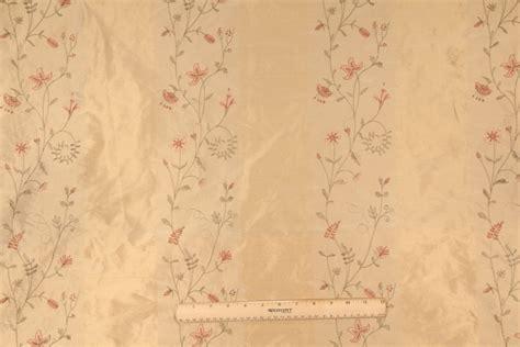 embroidered silk drapery fabric 3 3 yards robert allen liquid gold embroidered silk