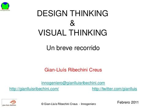 design thinking slideshare design thinking visual thinking