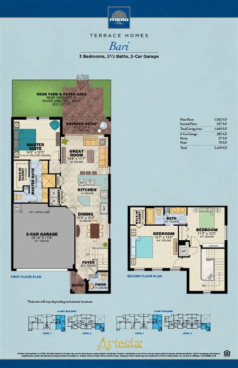 Beach House Plans by Artesia Bari Model Sunrise New Homes Florida Minto