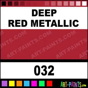 deep red metallic artists acrylics metal and metallic