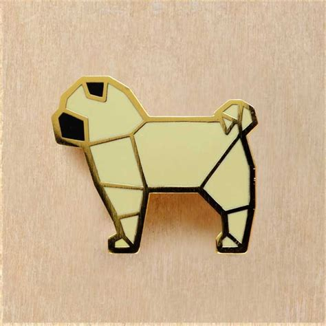 origami pug 17 best images about plastique fou dingue on brooches origami necklace