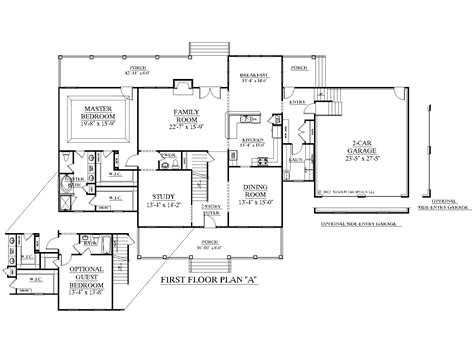 house plans with rear view southern heritage home designs house plan 3135 a the pineridge quot a quot