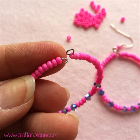 Beaded Hoop beaded hoop earrings tutorial craftaholique