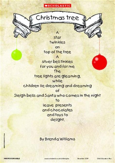 christmas tree shape poem primary ks1 teaching