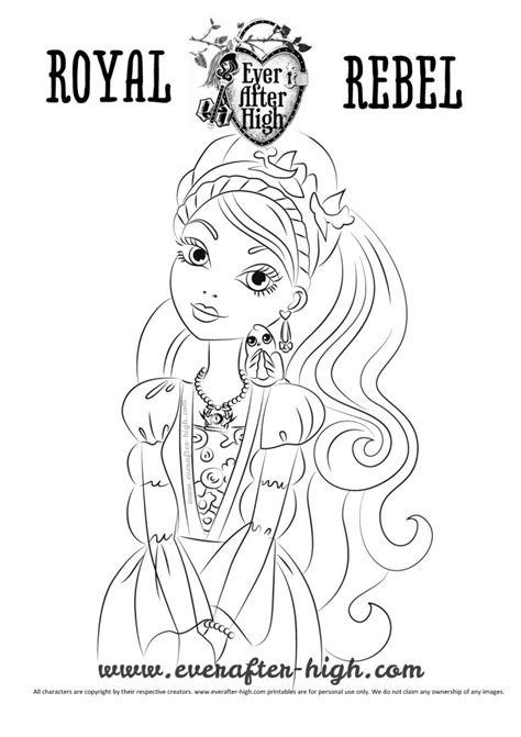 ever after high coloring pages ashlynn ella ashlynn ella coloring page ever after high