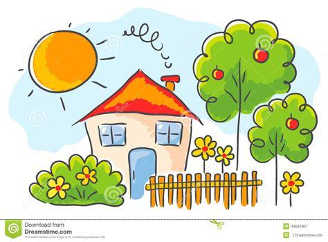 la casa bambino disegno s bambino di una casa illustrazione