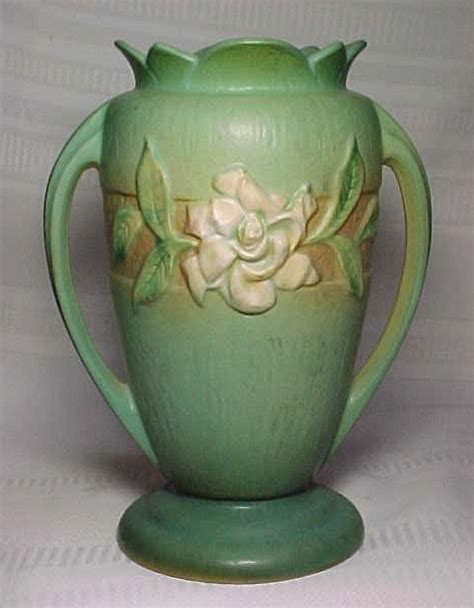 Value Of Roseville Pottery Vases by Roseville Pottery Gardenia Large Green Footed Vase For