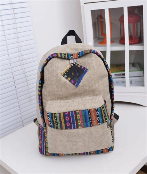 Tas Import 21177sn Khaki jual tas import c820148 khaki canvas backpack tribal fashion korea clalita shop