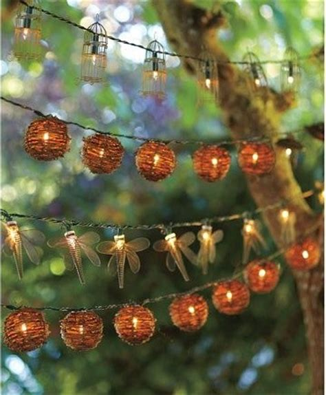 wire dragonfly string lights eclectic outdoor rope and
