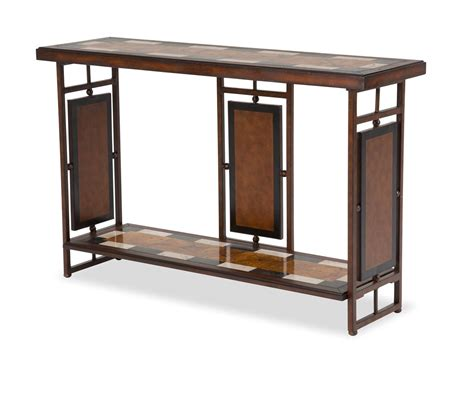 Metal Sofa Table Sao Paulo Top Penshell Inlay Sofa Table With Metal Accent Base