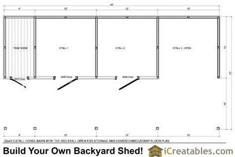 stall floor plans 3 stall barn plans with lean to and tack room 3rd bay open