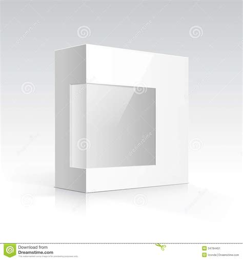 does eps format support transparency vector blank box with transparent window stock vector