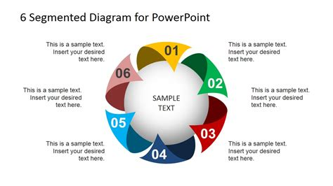 4 step segmented circular diagrams for powerpoint slidemodel 6 steps circular segmented diagram for powerpoint slidemodel