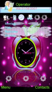 themes apple clock download animated apple clock nokia theme mobile toones