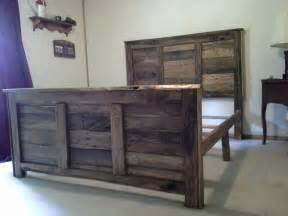 size pallet headboard and footboard with frame