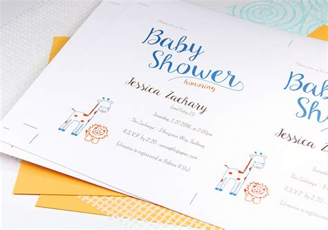 lci paper place card template made baby shower invite in craft ideas magazine