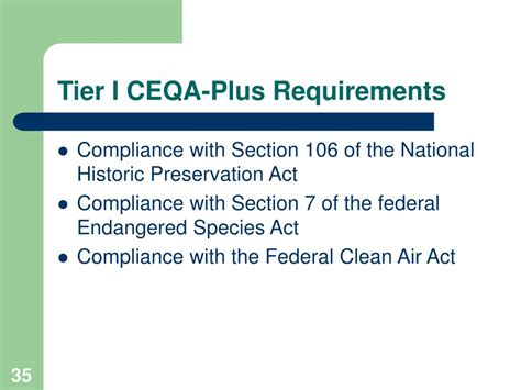 Section 7 Endangered Species Act by Ppt Ceqa And Ceqa Plus Powerpoint Presentation Id 383673