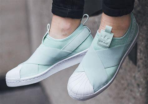 Adidas Slip Om adidas superstar slip on mint s76407 sneakernews
