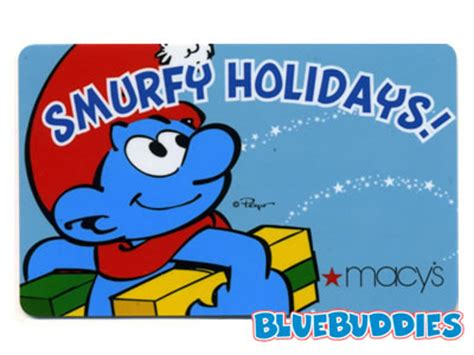 Lost Macys Gift Card - macy s holiday smurfs