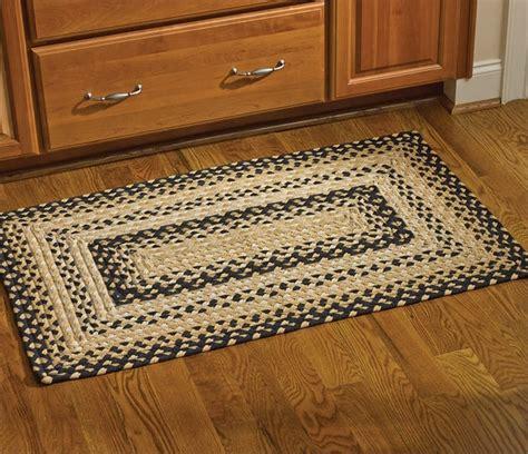 cornbread rectangle braided rug 27 x 45
